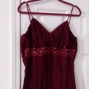 Evening tank top with sequins